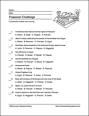 The Passover Word Search - Free Word Search Puzzles