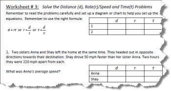 Distance rate and time worksheets with answers distance rate and time worksheet 3 ibookread PDF