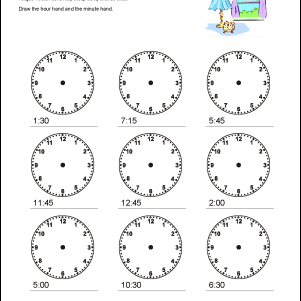 math worksheets telling time to the quarter hour. Black Bedroom Furniture Sets. Home Design Ideas