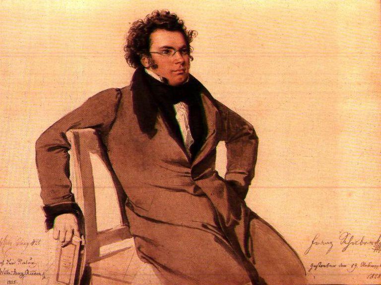 Portrait of Franz Schubert by Wilhelm August Rieder