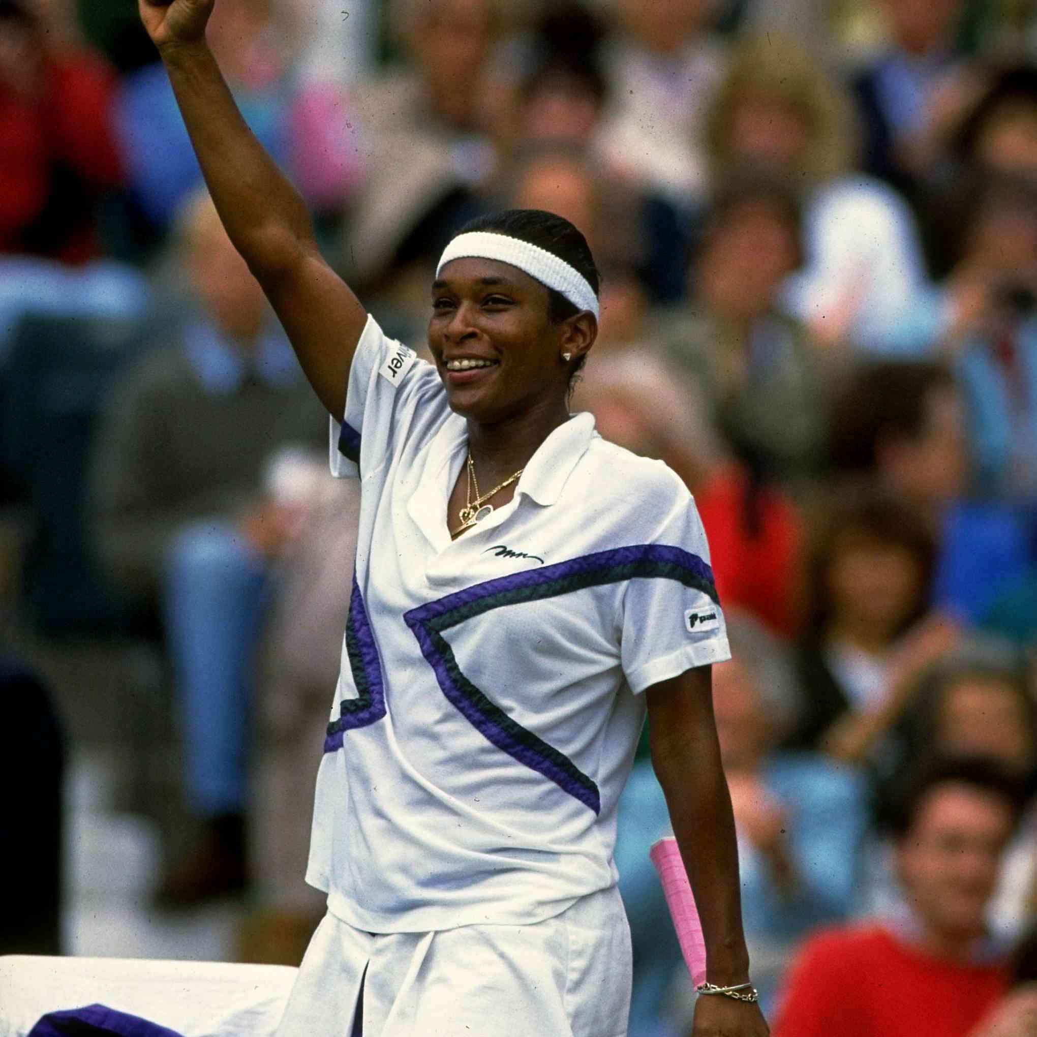 Zina Garrison at Wimbledon, 1990