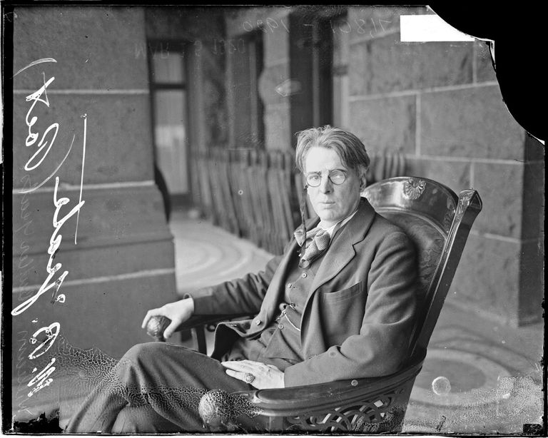 William Butler Yeats In A Rocking Chair