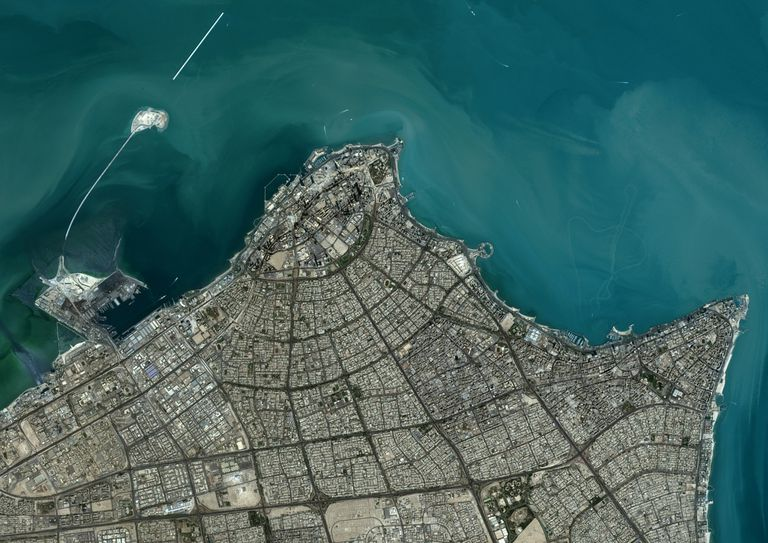 satellite photo of Kuwait City
