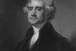 Thomas Jefferson (1743-1826), 3rd US president (B&W)