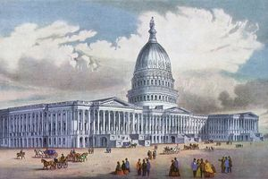 US Capitol building circa 1900