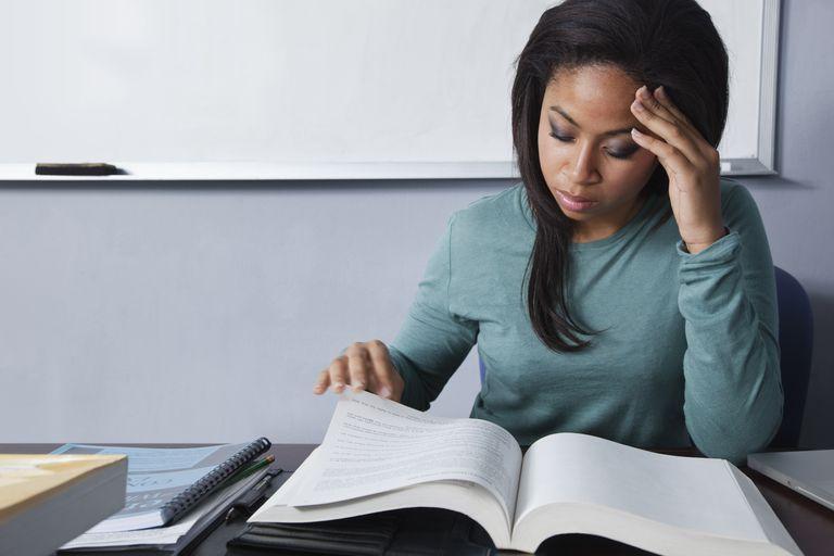 Student reading