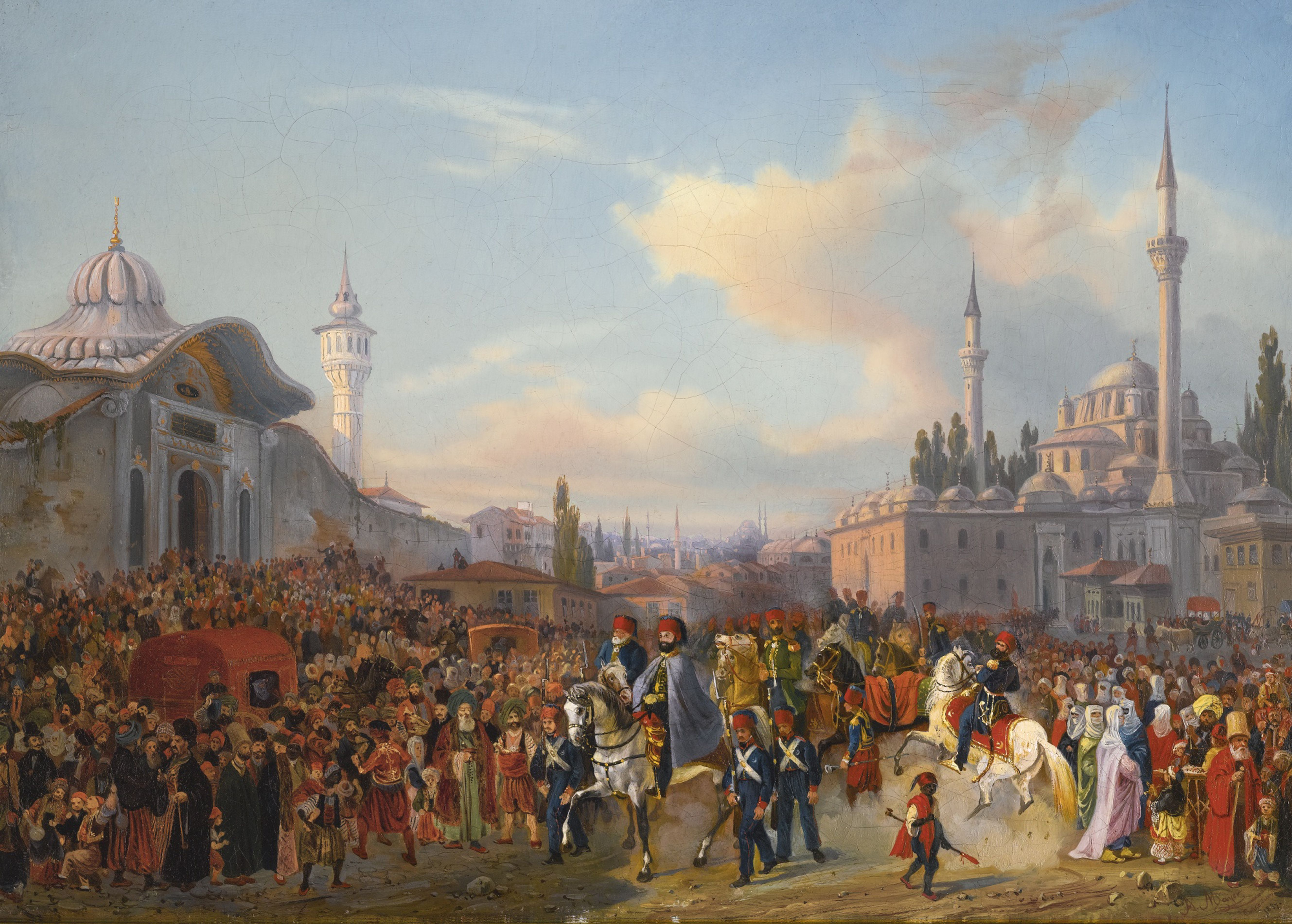 Sultan Mahmud II Leaving The Bayezid Mosque, Constantinople, 1837