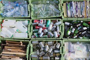 Organized recycling bins