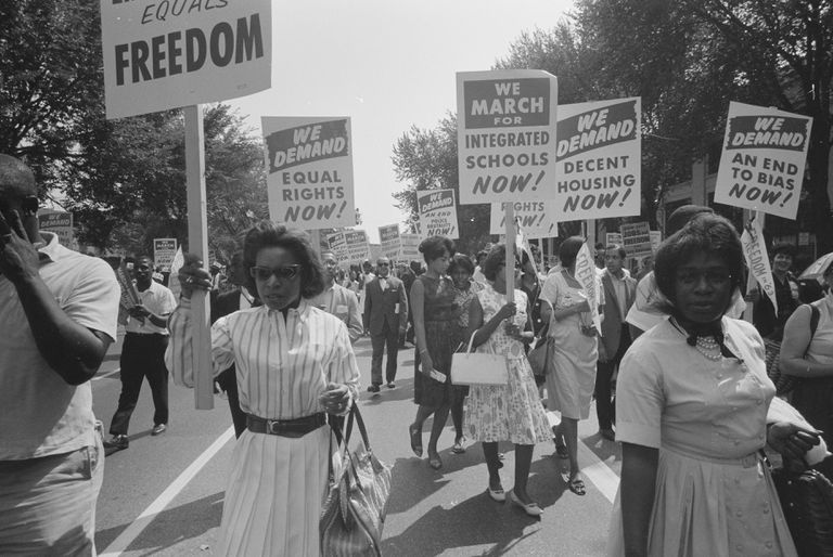 A demonstration against segregated schools