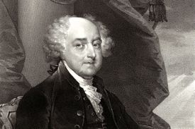 An 1828 portrait of John Adams, second President of the U.S.