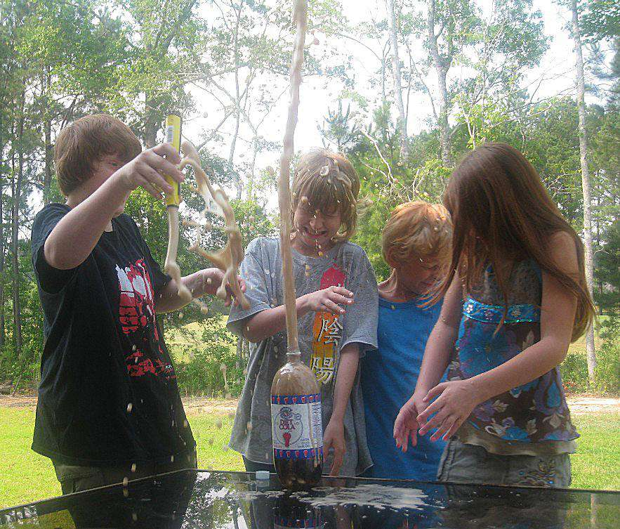 The mentos & diet cola fountain is easy and fun.