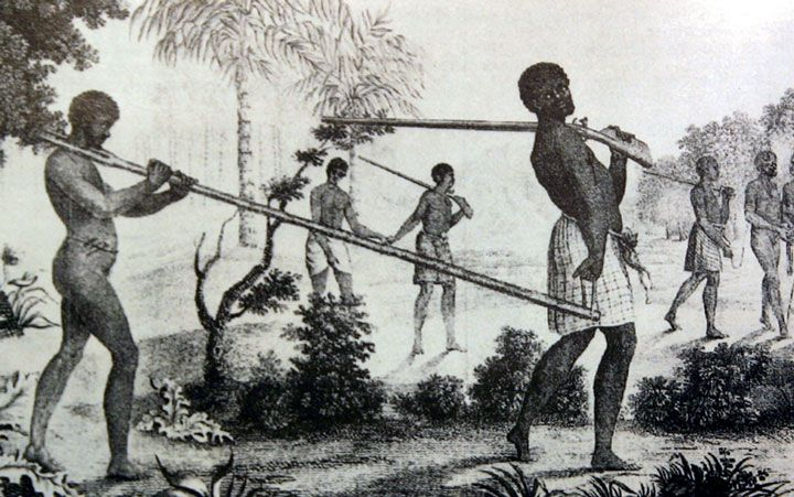 Indigenous African Slavers Traveling From the Interior