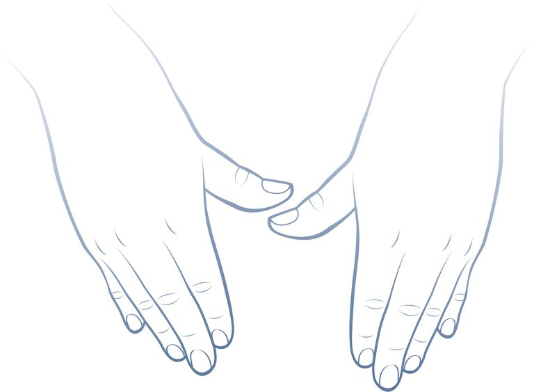 Massaging hands drawing