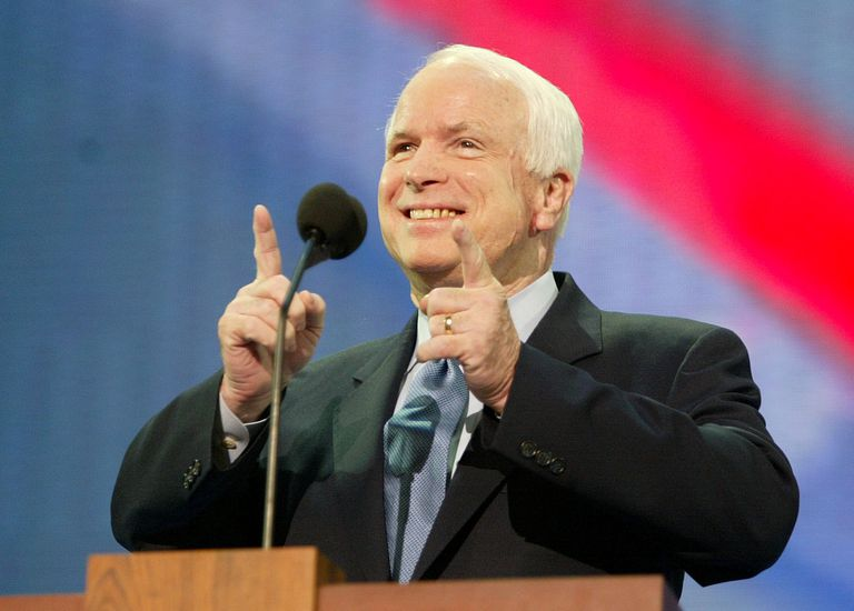 John McCain at Republican National Convention In New York - August 30, 2004