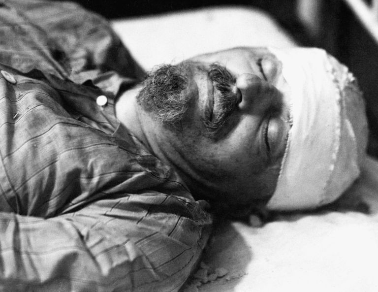 Leon Trotsky's Deathbed