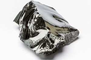 Germanium is a gray-white element with a metallic luster.