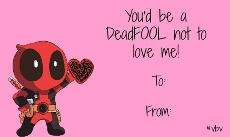 Deadpool valentine meme