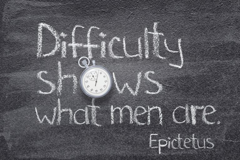 quote of ancient Greek philosopher Epictetus