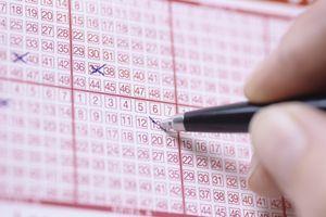 Pen markings on lottery ticket
