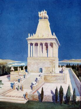 The Mausoleum of Halicarnassus, One of the 7 Wonders of the Ancient World