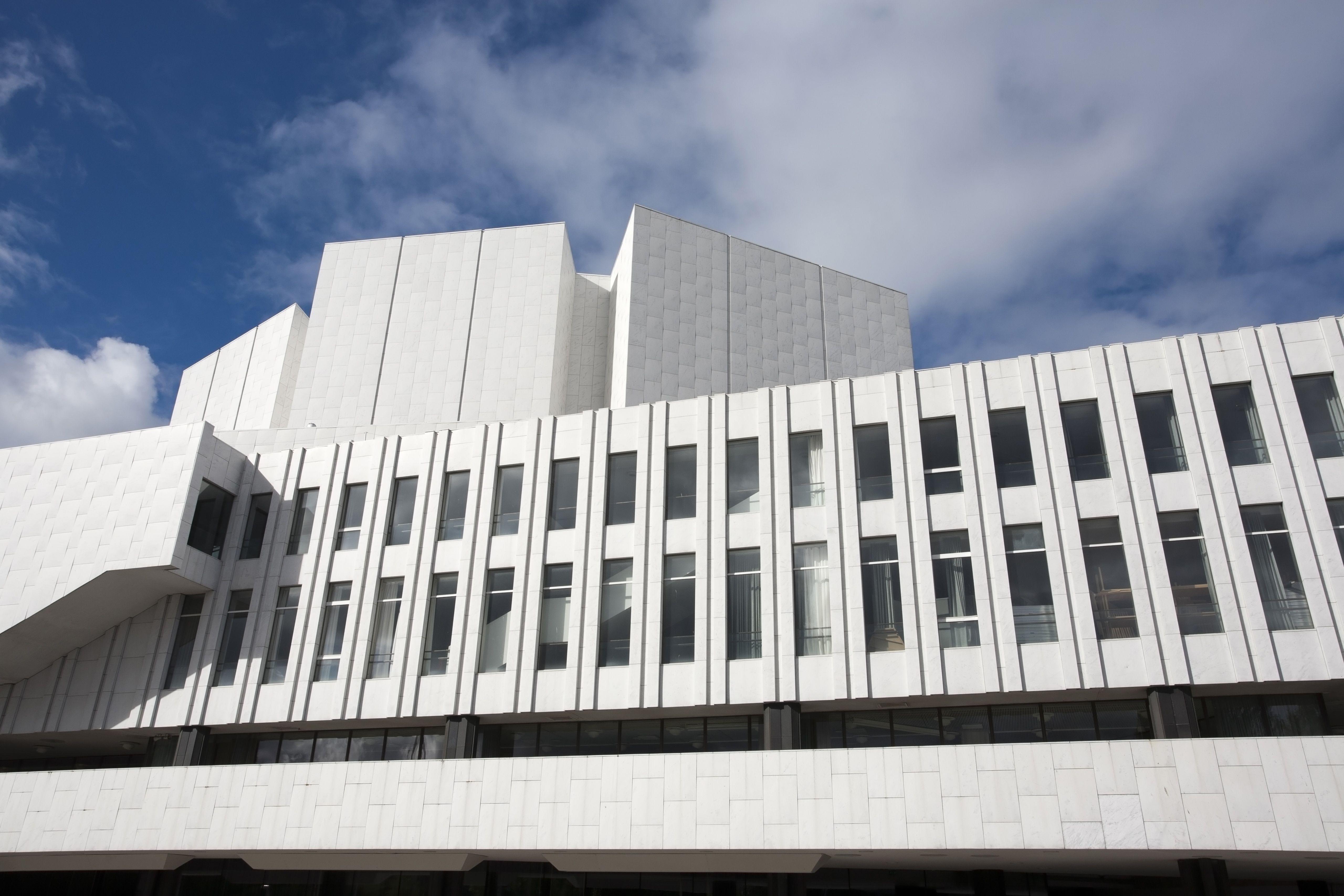 Finlandia Hall by Alvar Aalto, Helsinki, Finland