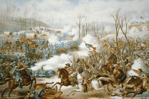 Fighting at Pea Ridge
