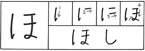 how to write the hiragana ho character
