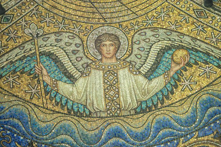Saint Archangel Raphael mosaic