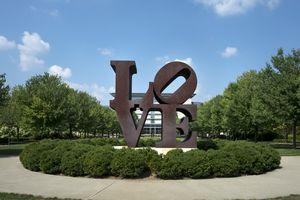 LOVE sculpture in Indiana