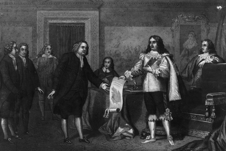 William Penn receives a charter from King Charles II.