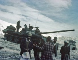 The Soviets ended up mired in a decade-long war, and eventually lost to the Afghan mujahideen.