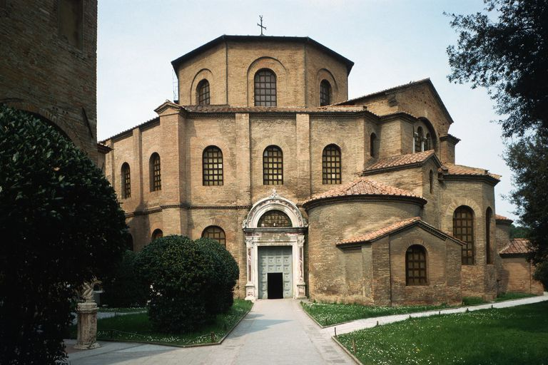 The 6th century Byzantine Basilica of San Vitale in Ravenna, Italy