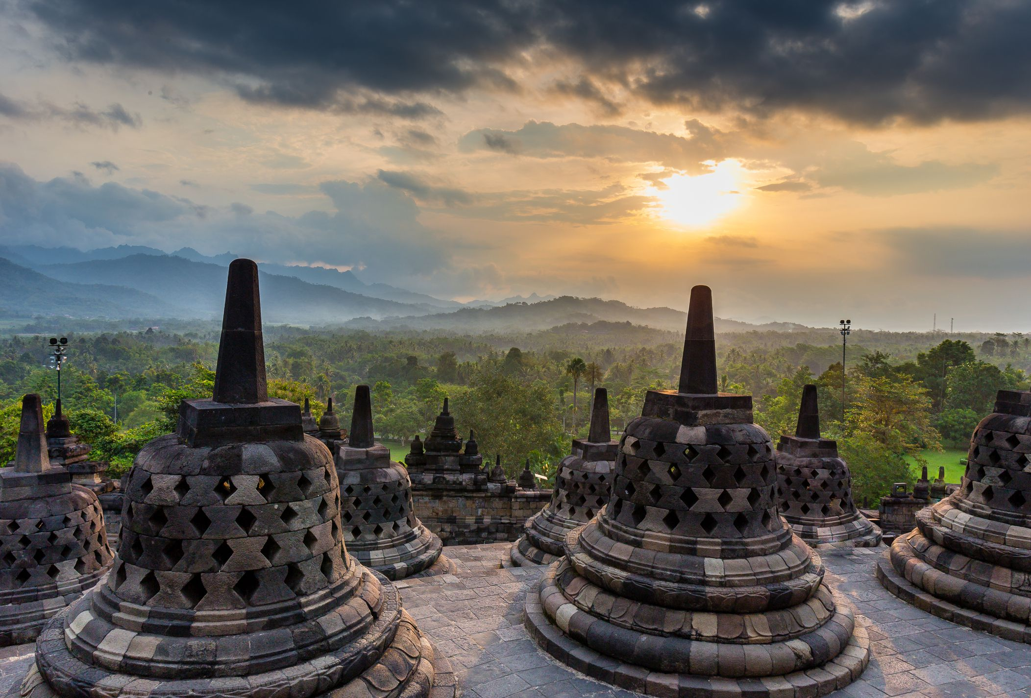 Borobudur Temple: Java, Indonesia