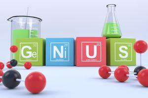 GeNiUS is a word written with the element symbols for germanium, nickel, uranium, and sulfur.