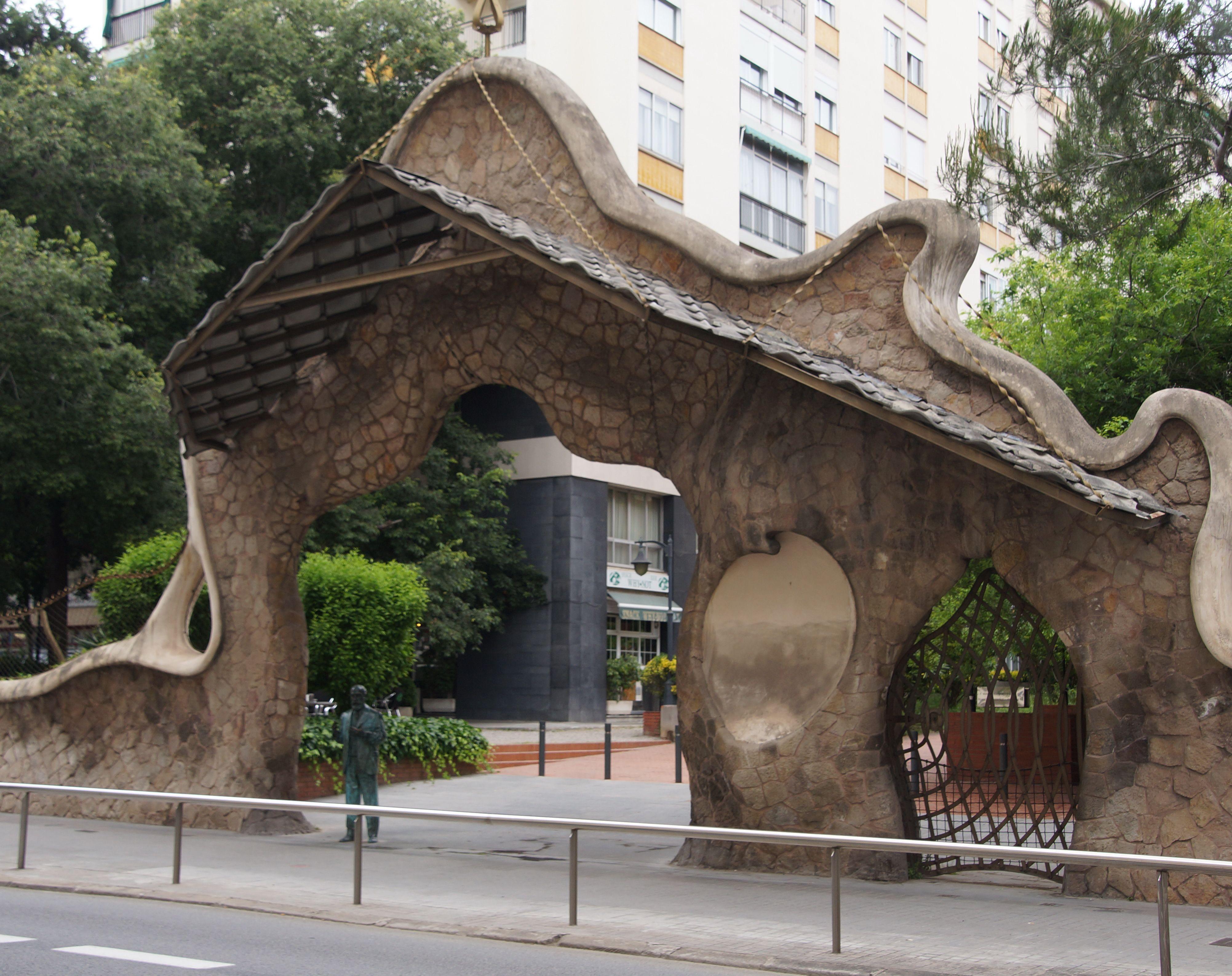 The Finca Miralles entrance, now public art in Barcelona, by Antoni Gaudí