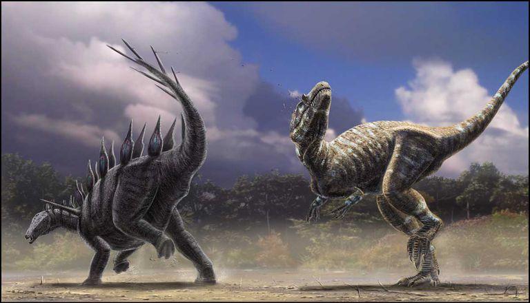 allosaurus stegosaurus