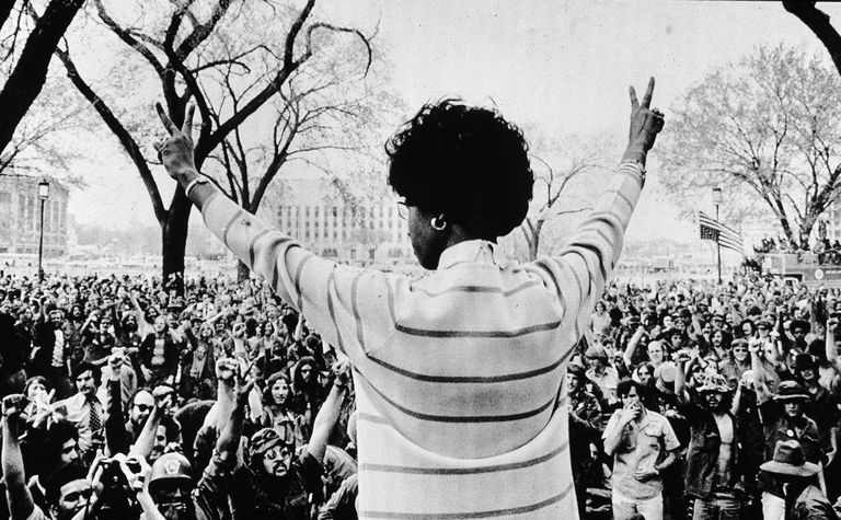 Shirley Chisolm at a rally
