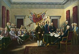 John Trumbull painting of The Declaration of Independence