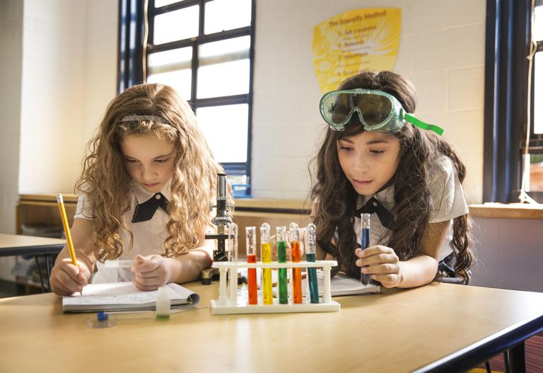Students Working on a Science Experiment in Class