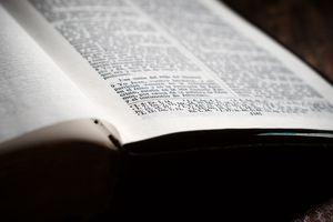 A spanish language Bible opened.