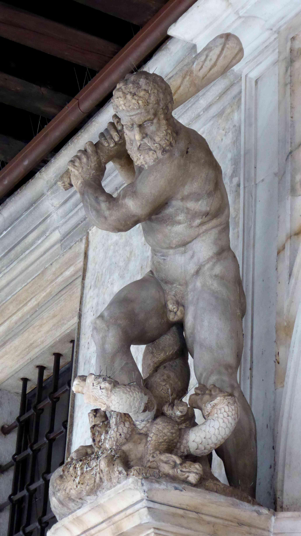 Hercules and the Lernaean Hydra sculpture by Aspetti