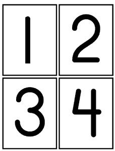 Number Cards 1 to 20