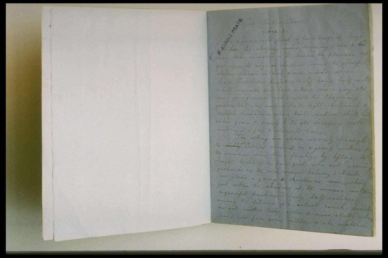 DISCOVERY OF A LOUISA MAY ALCOTT MANUSCRIPT