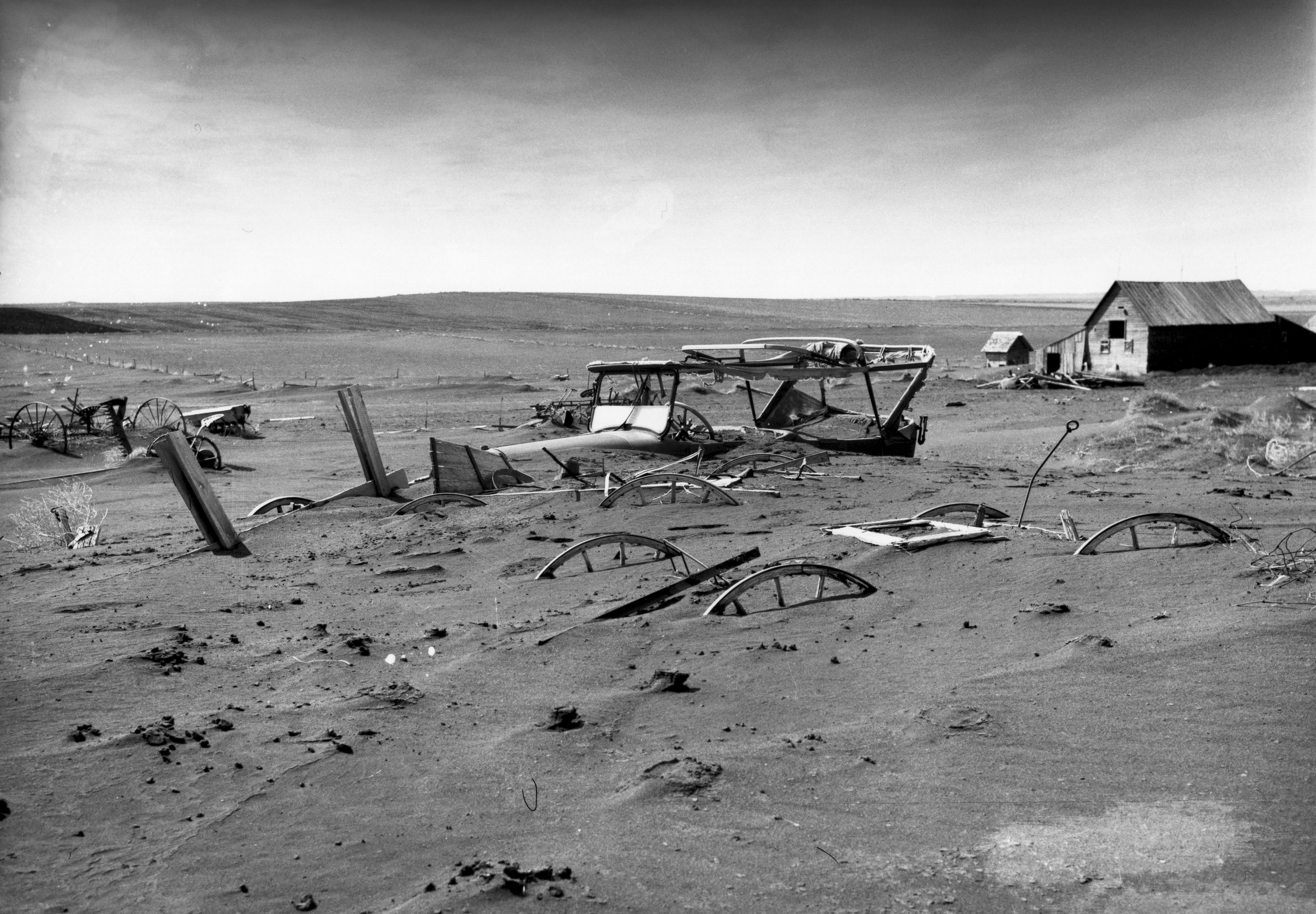 Buried Machinery During Dust Bowl