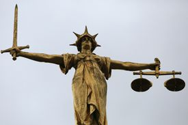 Sculpture of the Scales of Justice