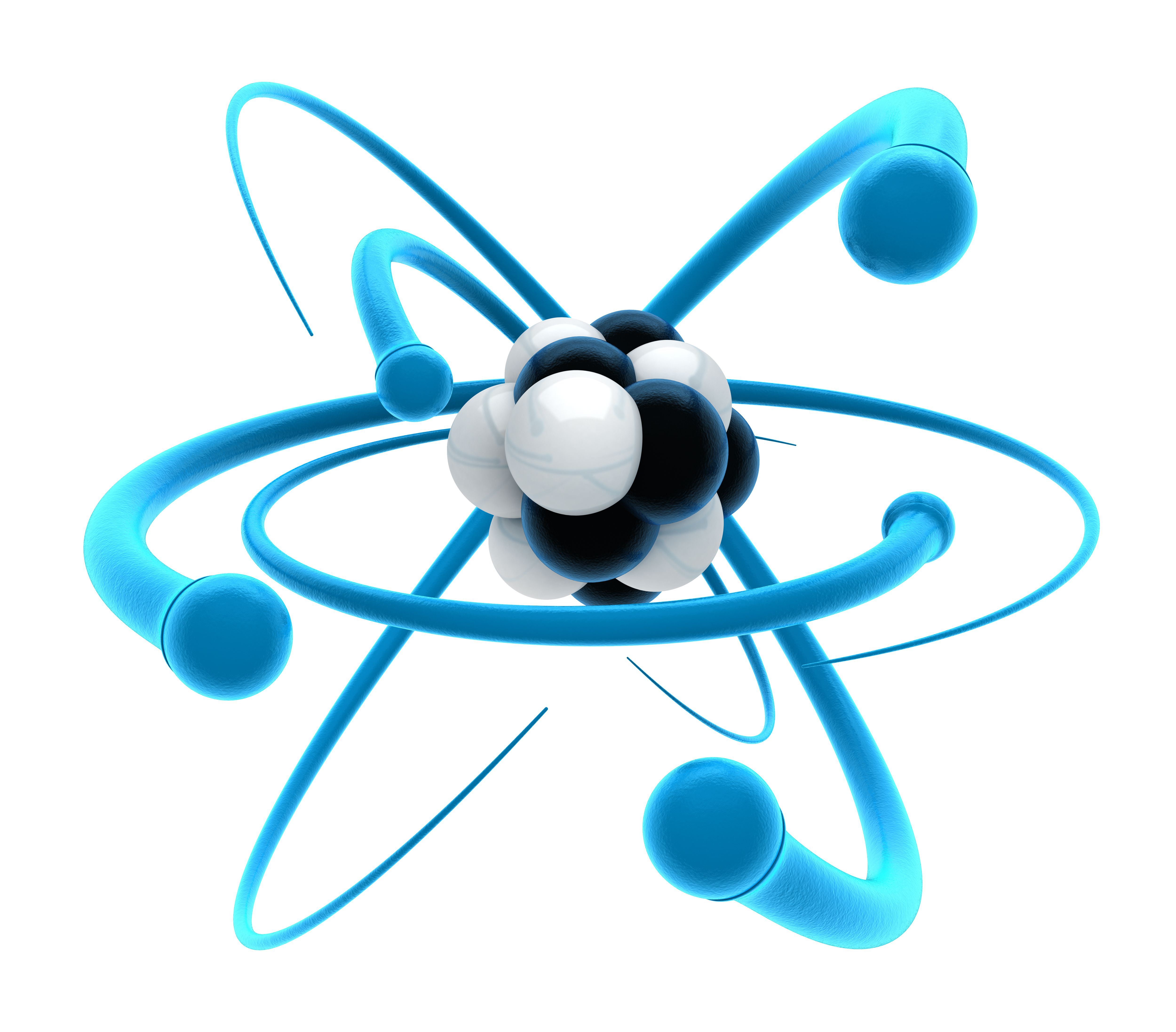 Protons are positive-charged particles found in the atomic nucleus.