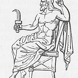 An image of the Titan Saturn from Keightley's Mythology, 1852.