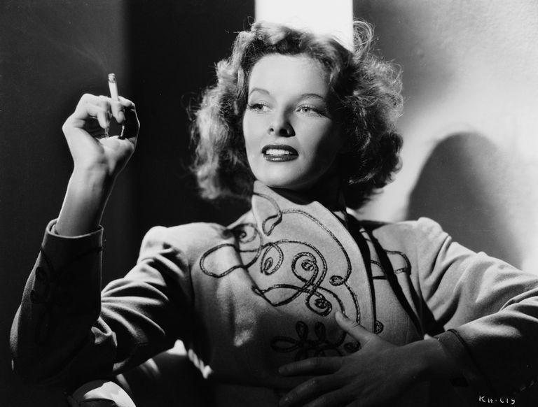 Katharine Smoking