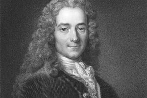 Engraving of Voltaire