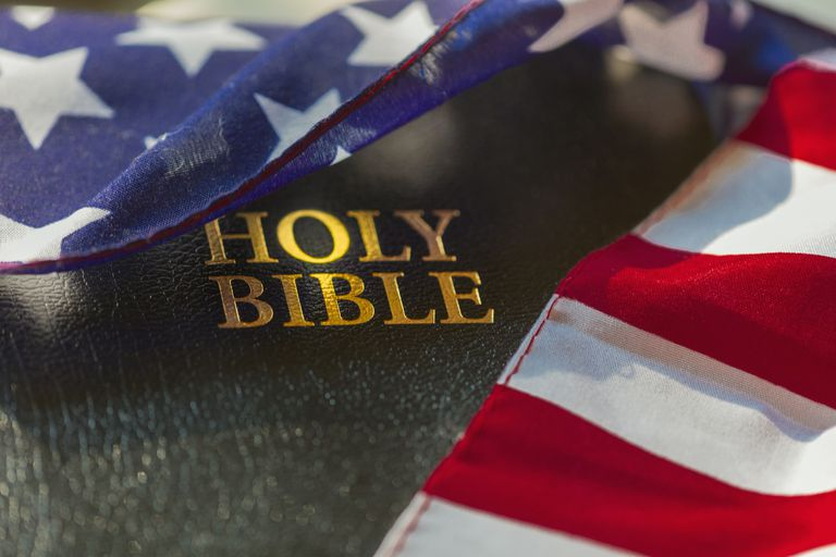 Flag and holy bible